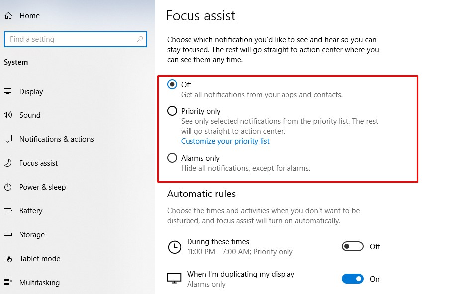 How to Make Games Run Faster on Windows 10 - focus settings
