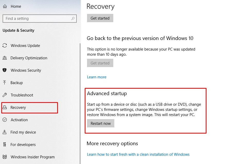 Windows Stop Code Memory Management - recovery