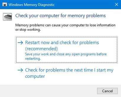 Windows Stop Code Memory Management - step 2