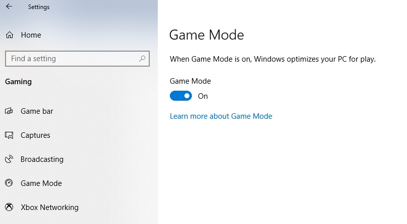 how to make game run faster in window 10 - game mode